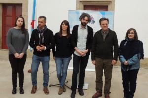 Bárbara Lamas (primeira pola esquerda) na presentación da candidatura á alcaldía de Ferrol