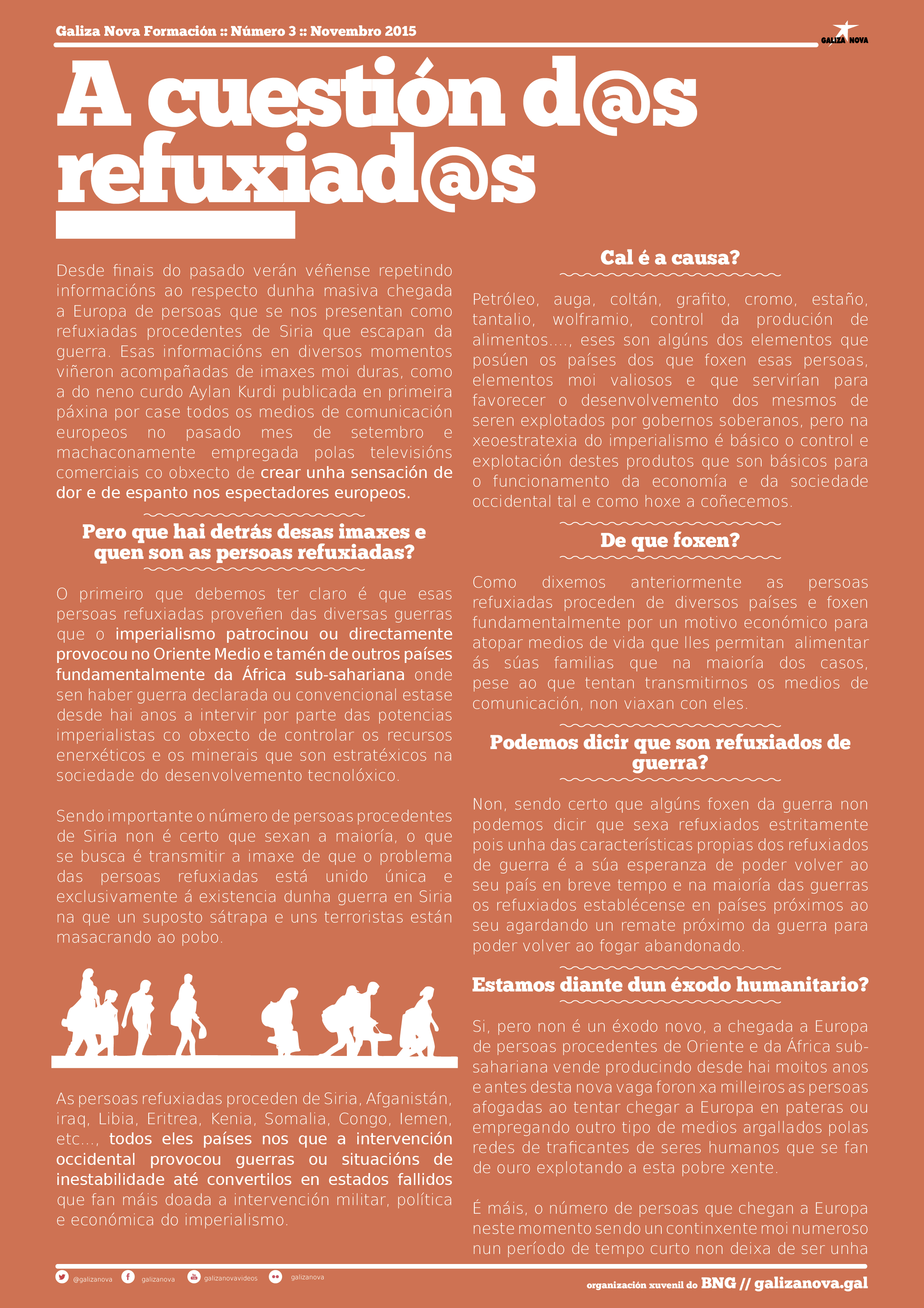 Galiza Nova Formacion. 3. Refuxiadas(1)