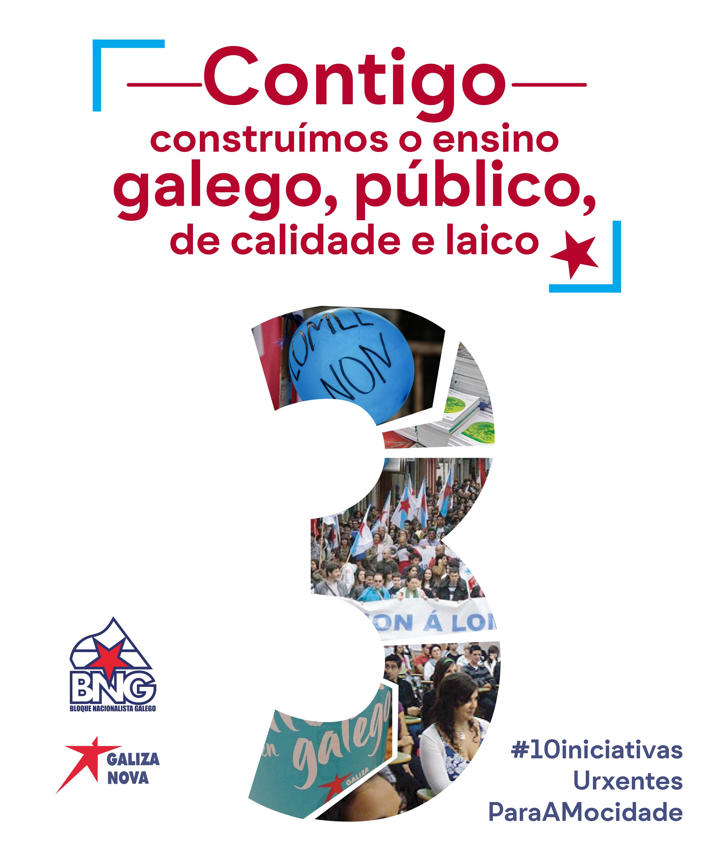 3. As medidas do BNG para construír o ensino público galego