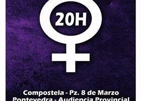 Concentracións contra o feminicidio con Lugo
