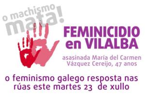 Concentracións feminicidio Vilalba
